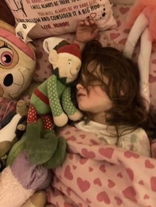Buddy the elf loves a sleepover