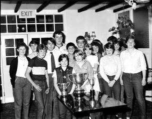 Teens with trophy