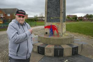 Main image for Residents hurt by monument vandalism