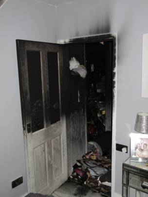Main image for Firefighters urge residents to keep inner doors closed