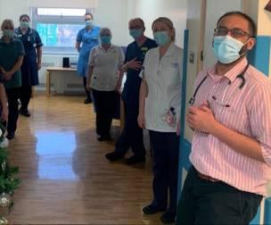 Main image for Specialist staff on coronavirus ward feel 'rewarded' by award nomination