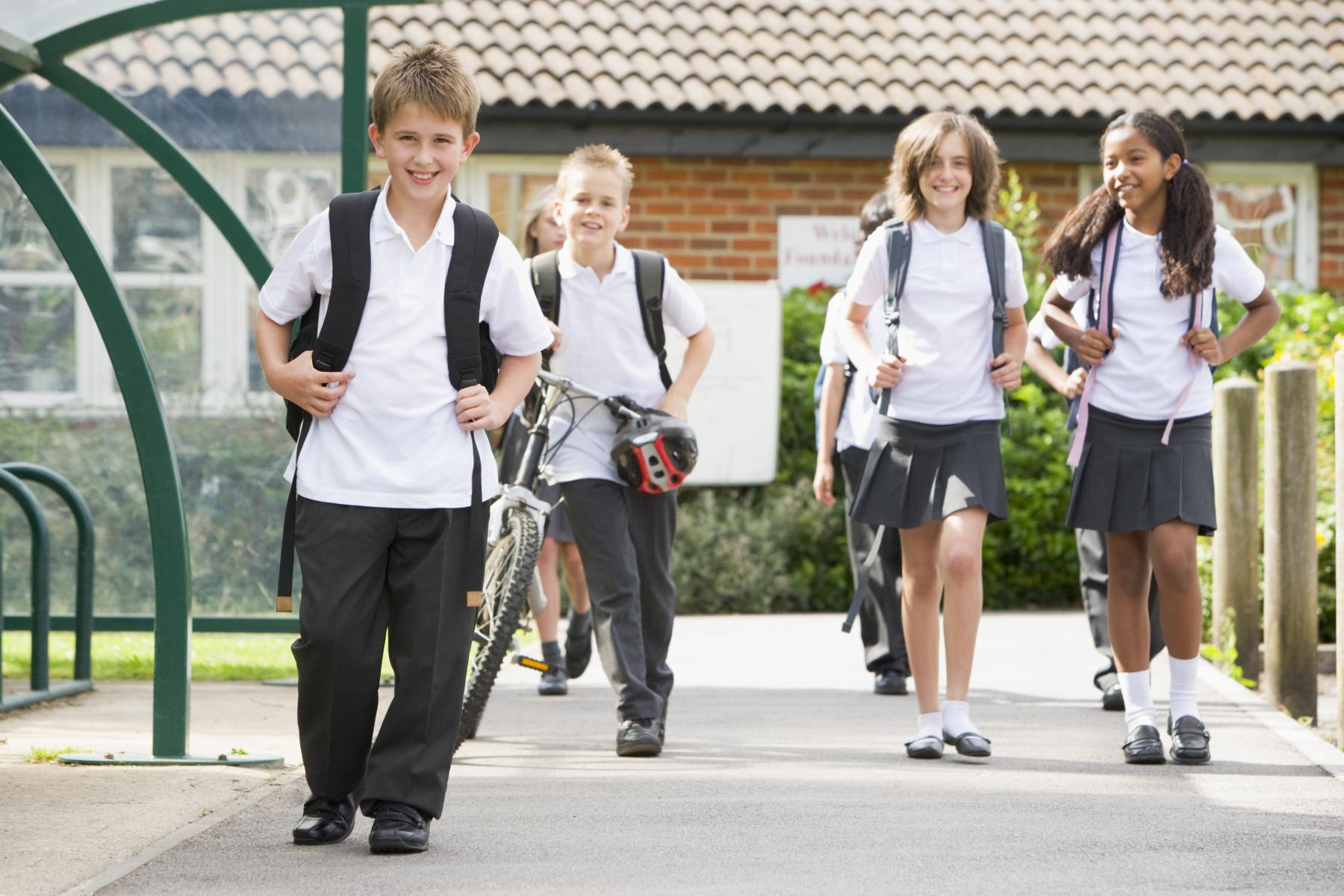 POSITIVE STEPS: Walking or cycling to school helps to boost children's health and eases demand for public transport.