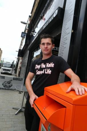 Main image for New weapons amnesty bin for town centre