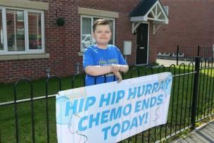 Main image for Little battler Kelvin has fought off cancer TWICE