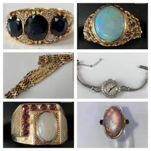 The jewellery taken