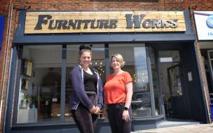 IN THE WORKS: Rhyanne with her boss Sarah Thornton