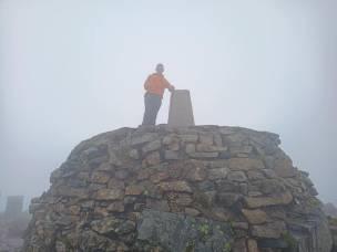 Jim Morton at the top of Ben Nevis
