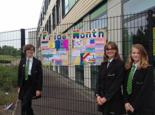 Netherwood pupils Charlotte Jones, Georgina Jones and Kyla Burgess.