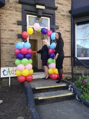 Mayor Coun Caroline Makinson opening the new TADS premises