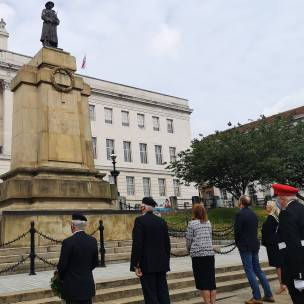 The flag was raised at the town hall