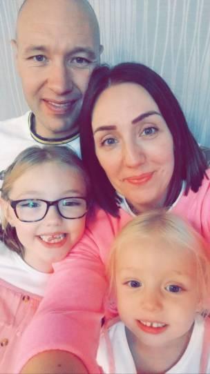 Ian McDonald, from Mapplewell, and family