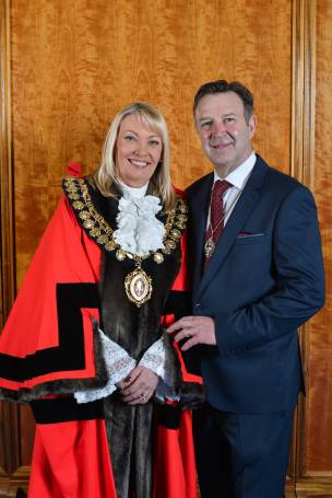 Main image for New mayor welcomed by council