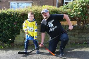 Main image for Ice hockey fan Matthew pucks a lot of effort into his fundraising