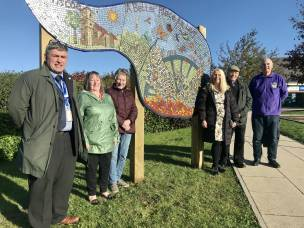 Main image for Vandalised mosaic given new home