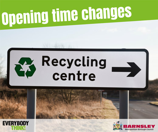 Main image for Changes to recycling centre opening times